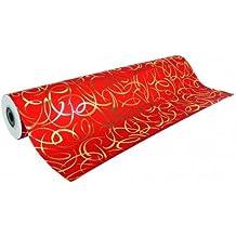 Clairefontaine Premium–Rollo de papel de regalo, 50x 0,7m, color Rojo, 69,50 x 7 x 7