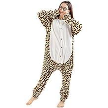 DarkCom - Disfraz de Animal unisex para adulto sirve como pijama o cosplay sleepsuit de una pieza De Leopardo Oso
