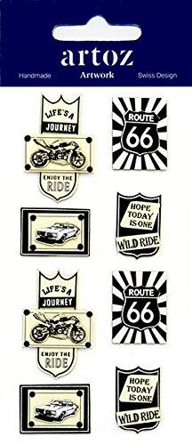Route 66Harley Davidson Craft Verzierung–Fun Scrapbooking Karte Aufkleber