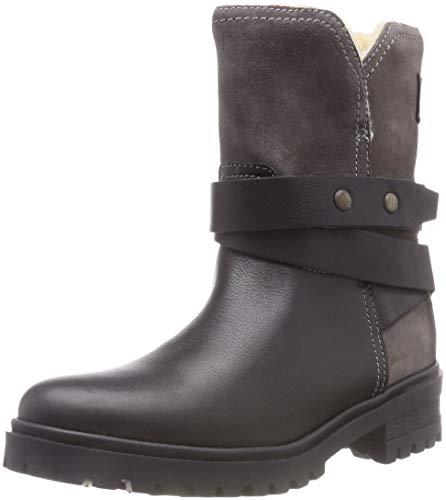 Hilfiger Denim Warm Cleated Biker Boot, Botas Estilo Motero para Mujer, Negro (Black 990), 39 EU