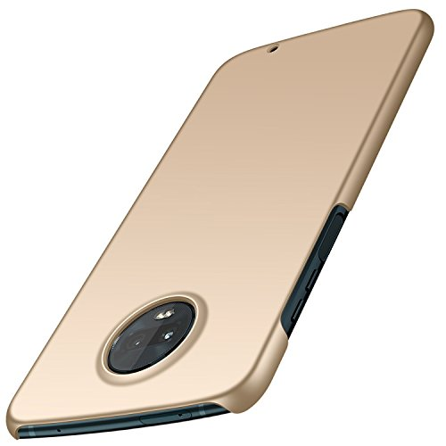 TopACE Motorola Moto Z3 Play Hülle, Bumper Hülle Motorola Moto Z3 Play Schutzhülle PC Plastik Harte Case Ultra Slim Matt Handyhülle Für Moto Z3 Play (Gold)