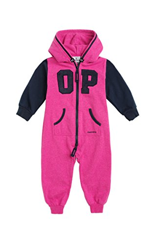 Onepiece Unisex Baby Strampler Jumpsuit College, Mehrfarbig (Raspberry Melange/Black),  Gr. 6-12 Monate