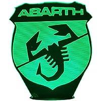 ABARTH (logo), Lampada illusione 3D con LED - 7 colori.