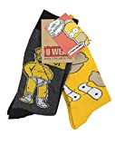 Simpsons Y1H173 The - Homer Mens Socks (Size 6-11, Pack of 2)
