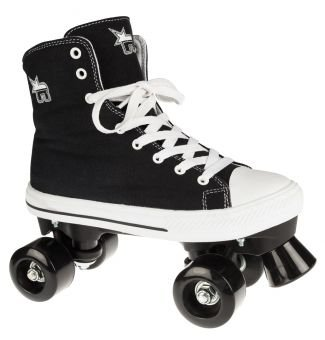 Rookie Rollerskates Canvas High,schwar/weiß,EU 39(UK6)