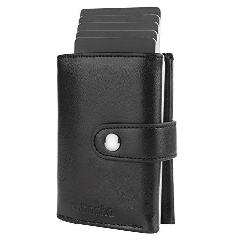Fabonka porta carte di credito, custodia multi-uso portafoglio tasche in lega di alluminio per uomini e donne