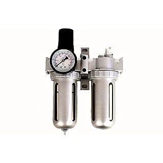 1 Stück Druckluft Filter/Öler-Einheit mit Druckregler 1/2