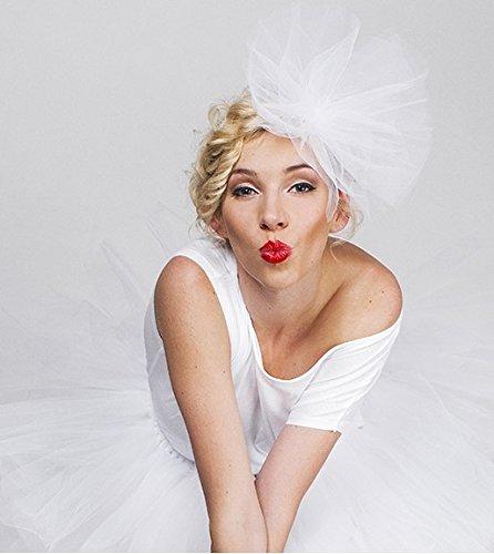 Haarreif mit weißem Tüll –für Hochzeit oder Junggesellinnen-Abschied