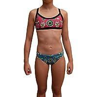 Swimgo Triton I bañador de competición femenino color Negro/Gris/Rosa, 24