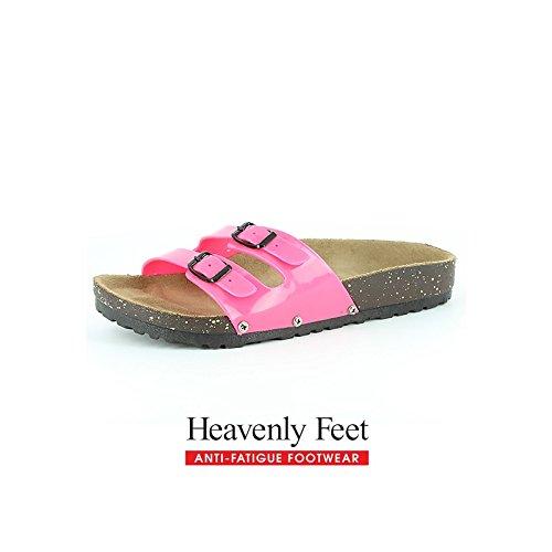Heavenly Feet, Sandali donna, rosa (Hot Pink), 35.5