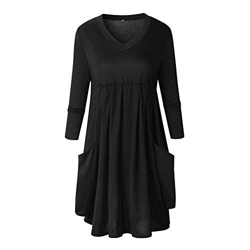Damen Winterkleid Pulloverkleid Hemdkleid - Juleya Elegant Sweatshirt Kleid Frauen Langarm Pullover Kleider Minikleid Hemd Violett Schwarz Grau S M L XL (Flare Jeans Gestickt)