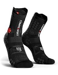Compressport - Calcetines de Trail Racing V3 - T2, Negro