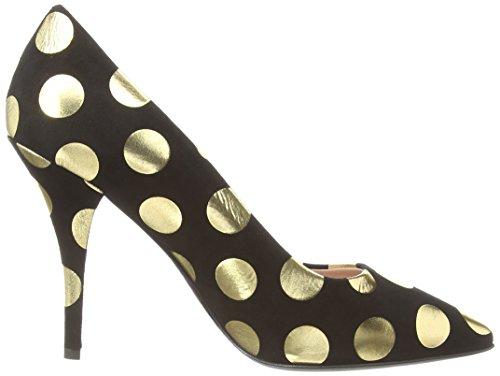 Moschino - Gold Spot Court, Scarpe col tacco Donna Nero (Nero)