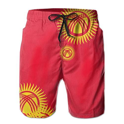 r Herren Originality Kirgisistan Flag Quick Dry Beach Board Shorts,XXL ()