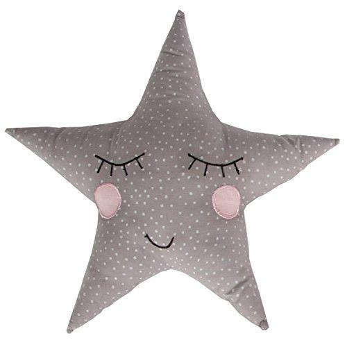 Sass y Belle–gris Pastel de lunares Star cojín