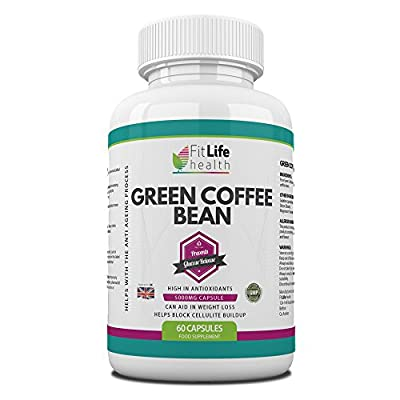 Green Coffee Bean Extract Diet Pills by Fit Life Health - Fights The Signs Of Ageing - Helps With Weight Loss - Antioxidant Formula Boosts Your Metabolism And Blocks Cellulite Build-up - Highest Strength 5,000mg Formula - 60 Capsules - Suitable For Vegeta