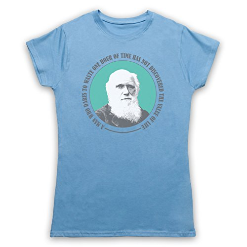 Charles Darwin Value Of Life Damen T-Shirt Hellblau