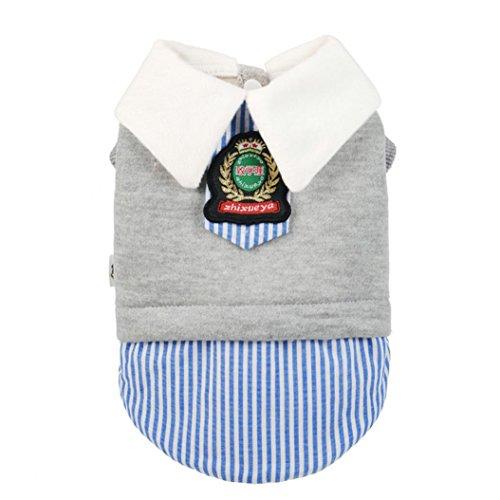 Saingace Hundbekleidung Hunde Kleider Haustier Kostüm Bekleidung Haustier-Hundekatze-Winter-Mantel-Kleid-Welpen-warme Schulkarriere-Uniformen-Kostüm (S)