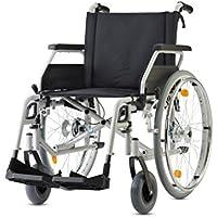 Bischoff Rollstuhl S-Eco 300 Sitzbreite 46 cm mit Trommelbremsen Faltrollstuhl Reiserollstuhl Transportrollstuhl