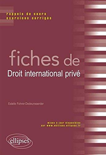 Fiches de Droit International Privé