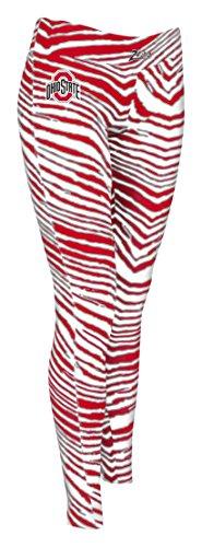 Damen NCAA Ohio State Zebra Print Team Logo Leggings, Damen, Women's NCAA Ohio State Zebra Print Team Logo Leggings, rot/grau, X-Small