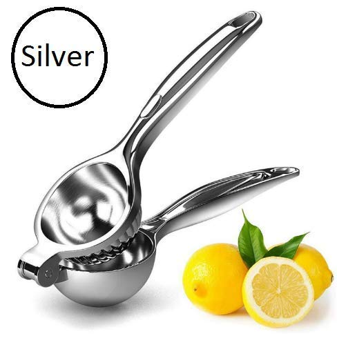 ORPIO (LABEL) New Heavy Stainless Steel Manual Press Lemon Squeezer Orange Citrus Hand Press Juicer (Silver)