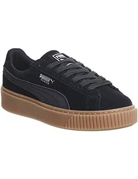 Puma Damen Basket Platform Metallic Sneaker