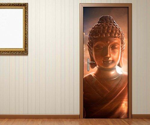Türaufkleber Buddha Statur - Buddhismus Tür Bild Türposter Türfolie Druck Aufkleber 15A2325, Türgrösse:90cmx200cm