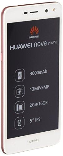Huawei Nova Young Smartphone, 16 GB, Bianco/Rosa