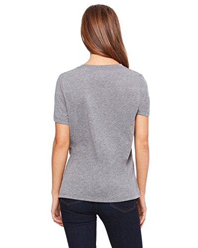 Bella + Canvas Missy 's Relaxed Jersey V-Ausschnitt T-Shirt GREY TRIBLEND