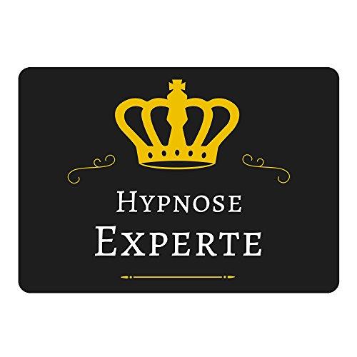 Mousepad Hypnose Experte schwarz