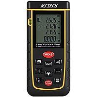 MCTECH Laser Telemetro Misuratore Portatile di Distanza Laser Digital Distance Meter Misuratore Misurare Per le Distanze e calcolano Superfici Volumi Spigoli Angoli A type (40M)