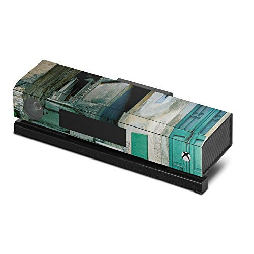 microsoft-xbox-one-kinect-case-skin-sticker-aus-vinyl-folie-aufkleber-gasse-gebaude-treppe