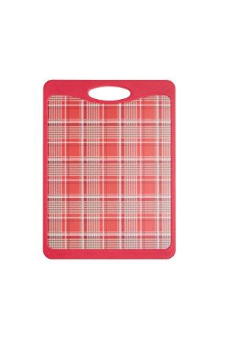 Kitchen Craft 20 x 27 x 1 cm anti-adherente diseño de tabla de cortar Reversible con diseño de Scottie, rojo