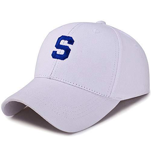 kyprx Hut Männer und Frauen Sommer Baseball Cap weiß blau Stickerei einstellbar -