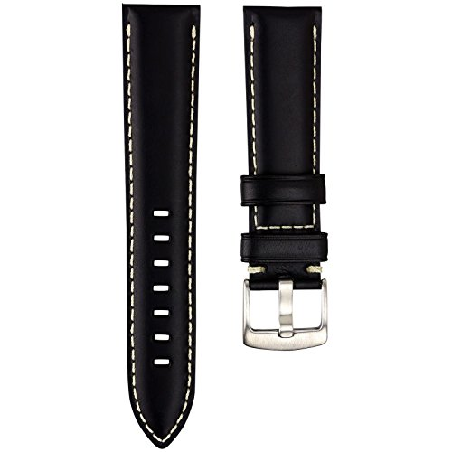 geckotar-uhrenarmband-hergestellt-aus-echtem-leder-gepolstert-schwarz-mit-elfenbeinfarbener-naht-geb