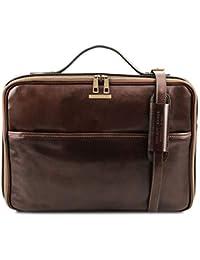 Tuscany Leather Vicenza Maletín Porta Ordenador con Cierre de Cremallera 00470752d98