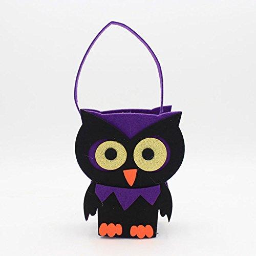 Lanlan Dekorationen Requisiten Halloween-Kostüm Filz Creative Vlies Gespenst Kürbis Totenkopf Tasche (Victoria Kostüme Halloween)