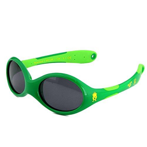 ActiveSol BABY-Sonnenbrille | JUNGEN | 100% UV 400 Schutz | polarisiert | unzerstörbar aus flexiblem Gummi | 0-2 Jahre | 18 Gramm [Size S - Monster]