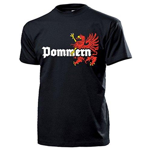 Pommern Wappen Abzeichen Emblem Logo Deutschland Greif - T Shirt Herren XXL #13344
