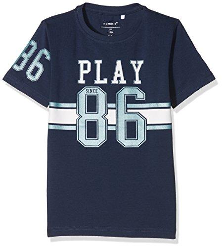 NAME IT Jungen T-Shirt Nmmdaplay SS Top, Blau (Dress Blues), 110