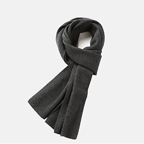 Echarpe ZHANGRONG- Hommes Automne Et Hiver Sauvage Tricot Simple Couple Collier Gris Noir Les Jeunes Chaleur extérieure d'hiver