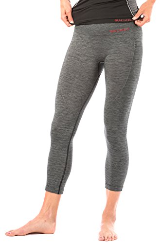 Sundried Cropped Capri Women's Leggings for Gym Yoga Workout Sports Fitness High Waisted Ribbed Leggings