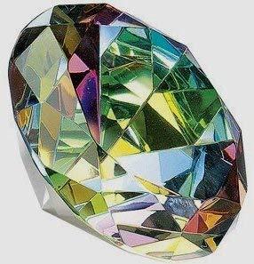 Kristall Glas Diamant Geformt Dekoration Briefbeschwerer 80mm (8cm) Durchmesser Multi-colord