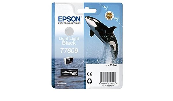 Epson Original Epson Surecolor Sc P 600 T7609 C 13 T 76094010 Tintenpatrone Schwarz Hell Hell 12 300 Seiten 25 9ml Bürobedarf Schreibwaren