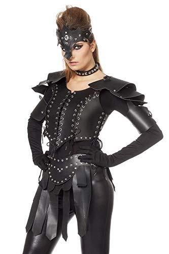 TH-MP Wikingerin Kriegerin Gladiator Rüstung Antike Römerin Damenkostüm Fark Cosplay Verkleidung Fasching Karneval (Cosplay Rüstung Kostüm)