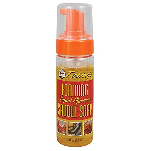 Fiebing's Foaming Liquid Saddle Soap Softness Restores Leather Color 5oz 12cs
