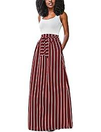 Profitd Mujer Faldas Faldas largas de la Falda Larga de la Falda de Las Faldas  largas 7341133f1d60