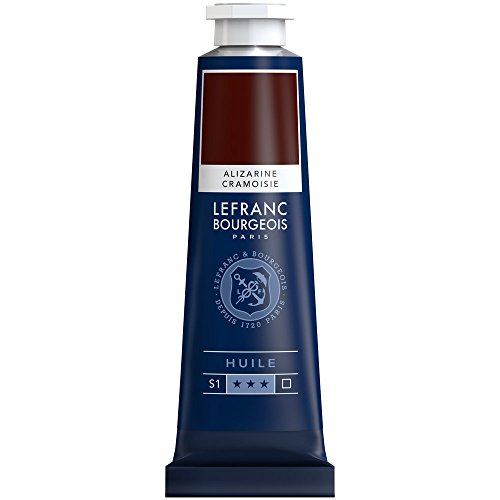 Lefranc & Bourgeois-Pintura al óleo (geschmeidige & Alto pigmentos Pintura al óleo, Alizarin Karmesin Permanent, 40ml