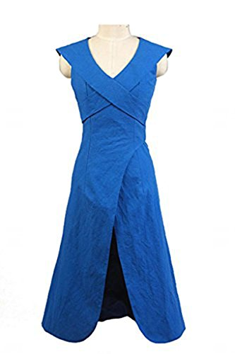 (Fuman Game of Thrones Daenerys Targaryen Mother of Dragons Kleid Cosplay Kostüm Blau M)